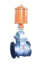 PZ641H 型 PN16~PN63 气动钢制排渣闸阀